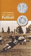 Österreich 5 Euro 2004 Silber 100 Jahre Fußball hgh im Blister