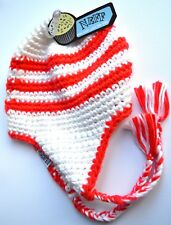 NEW NEFF Red and white woollen knitted nepal hat winter