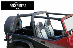 1992-1995 Jeep Wrangler Sport Bar Cover Roll Cage Pad Kit Black Denim