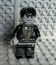 LEGO ZOMBIE MINIFIGURE Black Hair Wedding Groom Halloween Monster Man NEW