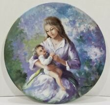 VINTAGE LIMOGES FRANCE PORCELAIN PLATE The Feast Of Mothers Day  Guy Cambier