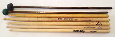 Lot Of 7 Used Drum Sticks & Mallets-Vater Vic Firth Manhattan DSN-