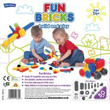 John Adams Fun Bricks 50 Piece Build & Play Set Age 1.5 years