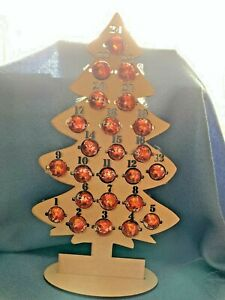 Wooden Christmas Tree Reusable Wooden Advent Calendar for Chocolates