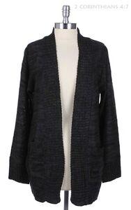 Women's Long Sleeve Casual Warm Knit Open Cardigan Pockets S M L