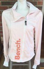 Bench Asymmetrical Zipper Full Zip Active Jacket Orange White Size Small EUC