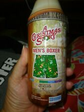 """Men's Boxer Shorts Size S in """"A Christmas Story"""" Leg Lamp Tin New"""