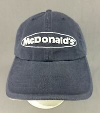 McDonalds Restaurant Hat Cap Employee Uniform Adjustable Blue