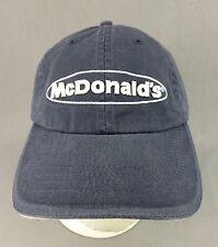 McDonalds Restaurant Hat Cap Employee Uniform Adjustable Blue