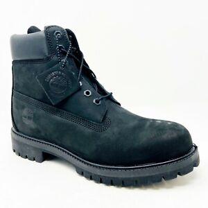 "Timberland Premium 6"" Waterproof boots Black Nubuck TB010073 001 Mens 8.5"