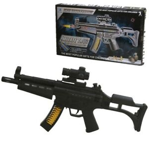 KIDS MP5 FIREPOWER TOY GUN WITH LIGHTS & SOUNDS BOYS ARMY SOLDIER ROLE PLAY