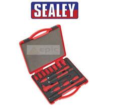 Sealey Principal 1cm Orificio 16 Piezas Aislamiento VDE Enchufe & Trinquete Set