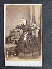 Victorian Carte De Visite CDV: Lady Holding Tissue Hoop Skirt: Moffat: Edinburgh