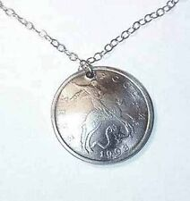 """St George & the Dragon coin necklace-18"""" chain"""