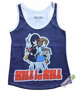 *Legit* Kill La Kill Ryuko Mako Friends Sublimation Junior Tank Top Shirt #83043