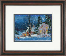 Dimensions Christmas Cottage Scene Counted Cross Stitch Kit - Quiet Night