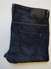 DIESEL KROOLEY JEANS MENS SLIM CARROT W34 L32 WASH 0817F DARK BLUE LEVR204