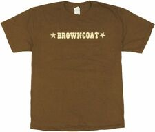 Serenity Movie Browncoats Name Brown T-Shirt Firefly New Unworn