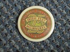 Milwaukee Irish Fest 25th Anniversary Pin Given to volunteers and VIPs