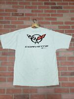 Vintage late 90's Corvette Double Sided short Sleeve Shirt Size XL new old Stock