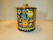 Vintage 1960s, Daher Tin With Lid, Raised Floral, England