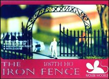 MOUSE MODELS HO Cemetery Wrought Iron Fence Model Kit With Gates NEW Sealed!