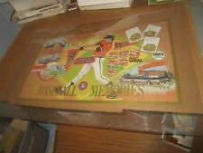 """Unusual 1992 Baltimore Orioles Maryland Lottery Baseball Poster 18"""" X 30"""" Nice!"""