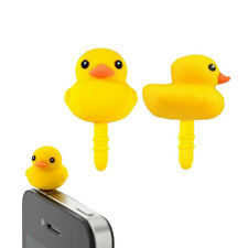 3x Rubber Ducks 3.5mm Earphone Port Anti Dust Plug Cap Cover Mobile Phone Tablet