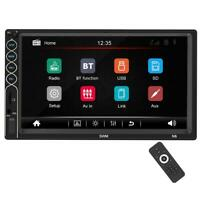 "Double 2 DIN 7"" Car Stereo MP5 Player Touch Screen Bluetooth USB AUX Radio"