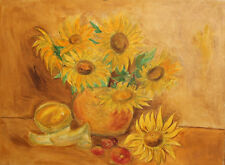 POST IMPRESSIONIST OIL PAINTING STILL LIFE SIGNED