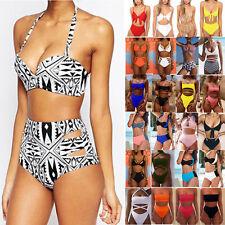 Women Padded Push-up Bikini Set Swimsuit High Waist Swimwear Bathing Beachwear