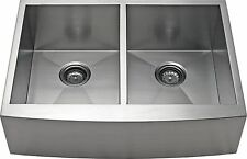"36"" Equal Bowl Apron Farmhouse Stainless Steel Kitchen Sink - AP3619D-10 Deep"