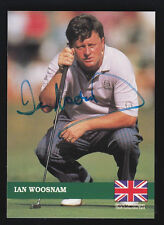 IAN WOOSNAM -- 1992 PRO SET EUROPEAN TOUR CARD E-4 - SIGNED / AUTOGRAPHED