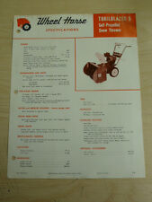 VINTAGE 1968 WHEEL HORSE TRAILBLAZER 5 SNOW THROWER SPEC SHEET SALES BROCHURE