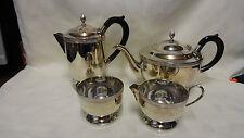 Vintage atractivo del grano Estampada chapado en plata de 4 piezas Juego de té Cavalier