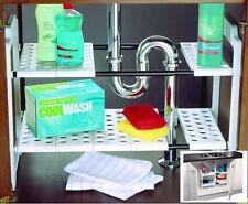 Under Sink Storage Unit Organizer Space Saving Shelf Tidy Rack Cupboard Addis