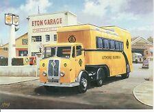 AA Seddon Tractor unit and Mobile office Eaton motoring art card automobilistica