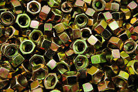 (100) 9/16-18 Grade 8 Hex Finish Nuts - Yellow Zinc Plated - Fine Thread