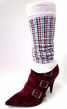GUÊTRES CHEVILLERES 30cm coton blanc rouge noir danse femme ado enfant NEUF