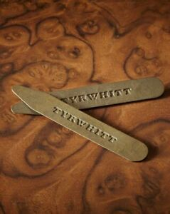 Charles Tyrwhitt 65mm Pair Solid Brass Metal Shirt Collar Stiffener