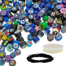 350 pcs Polymer Clay Beads for Jewelry Making Kit for Adults, 8mm & 9mm Crafts
