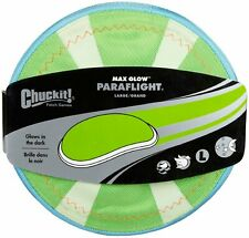 Chuckit PARAFLIGHT Dog Fetch Toy Large Frisbee Glow in the Dark 3D Rechargeable