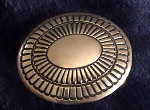 Large Vintage Navajo Sterling Silver  Belt Buckle Signed LM Sterling New Jewelry