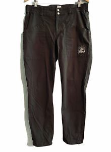 Maloja Outdoor Active Hiking Pants Stretch Waistband Womens Large Brown