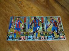 3 X CRYSTAL PALACE  2015/16 MATCH ATTAX MAN OF THE MATCH CARDS FULL SET