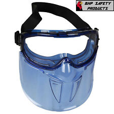 JACKSON V90 SAFETY GOGGLES WITH FACE SHIELD (18629), CLEAR ANTI-FOG LENS (1 EA)