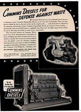 1940 Cummins Dependable Diesel Engines Ad: LP-600 & HBIS-600 Models Pictured