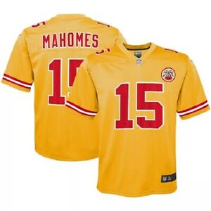 Patrick Mahomes Youth Kansas City Chiefs Nike Inverted Legend Gold Game Jersey