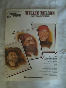 WILLIE NELSON - JUST PLAIN WILLIE - VOICE and PIANO SHEET MUSIC LESSON BOOK