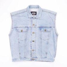 Vintage SAMWIN JEANS Blue Sleeveless Denim Jacket Mens Size 3XL